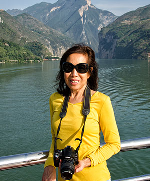 Helen on the Yangtze cruise