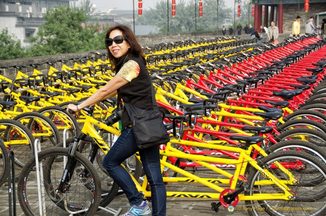Cycling on Xi'an City Wall